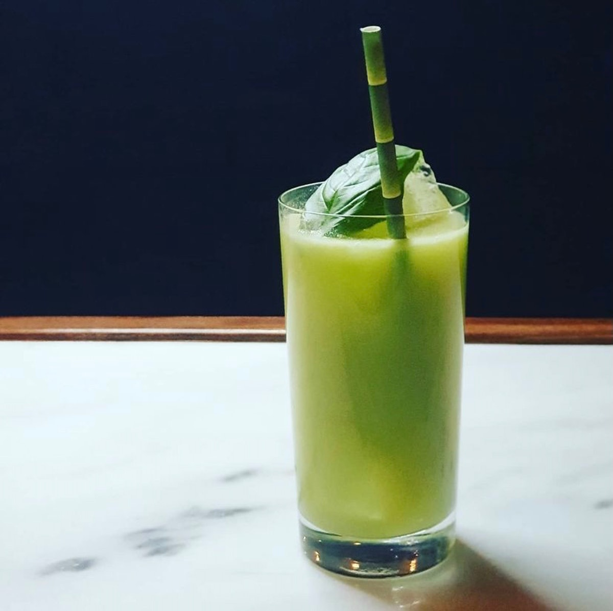 The Holy Basil is a cocktail at Longo Bros that's a great apéritif