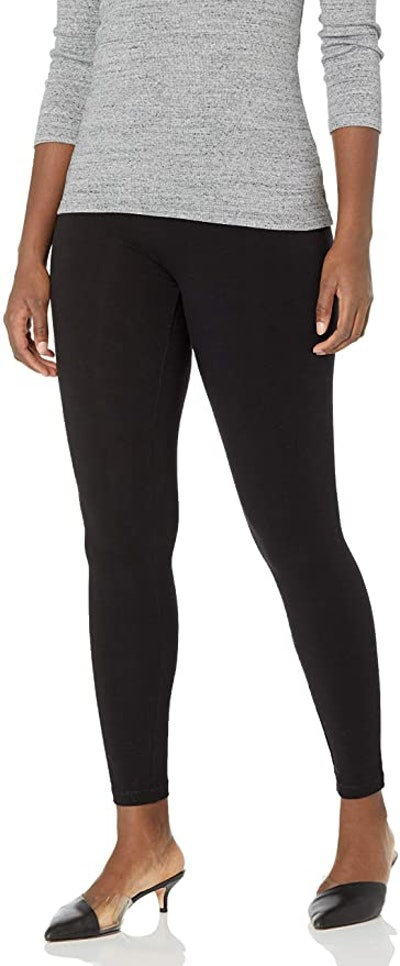 HUE Cotton Ultra Legging with Wide Waistband