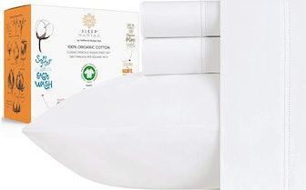 Sleep Mantra Store 100% Organic Cotton Sheet Set (4 Pieces)