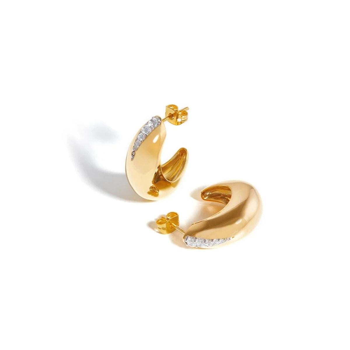 Missoma Dome Pave Hoop Earrings