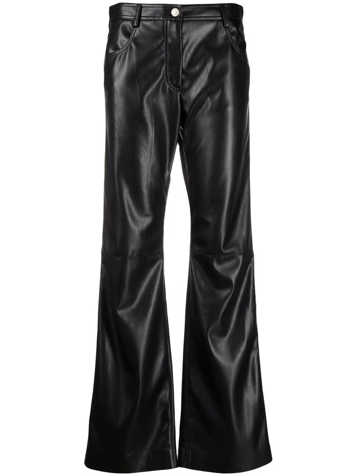 MSGM Flared Faux Leather Trousers