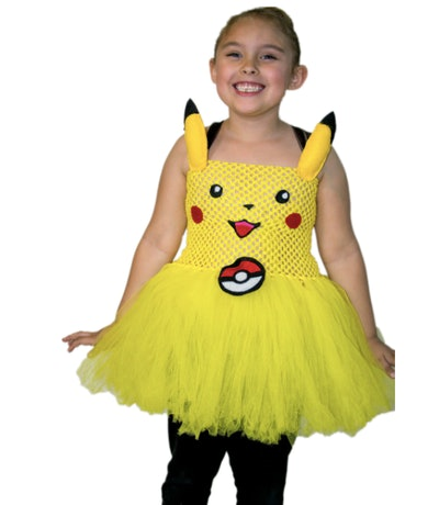 Girl wearing Pikachu tutu