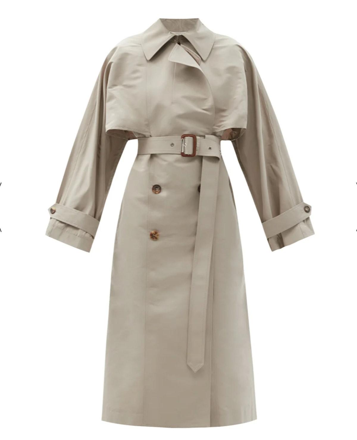 Alexander McQueen Faille Trench Coat
