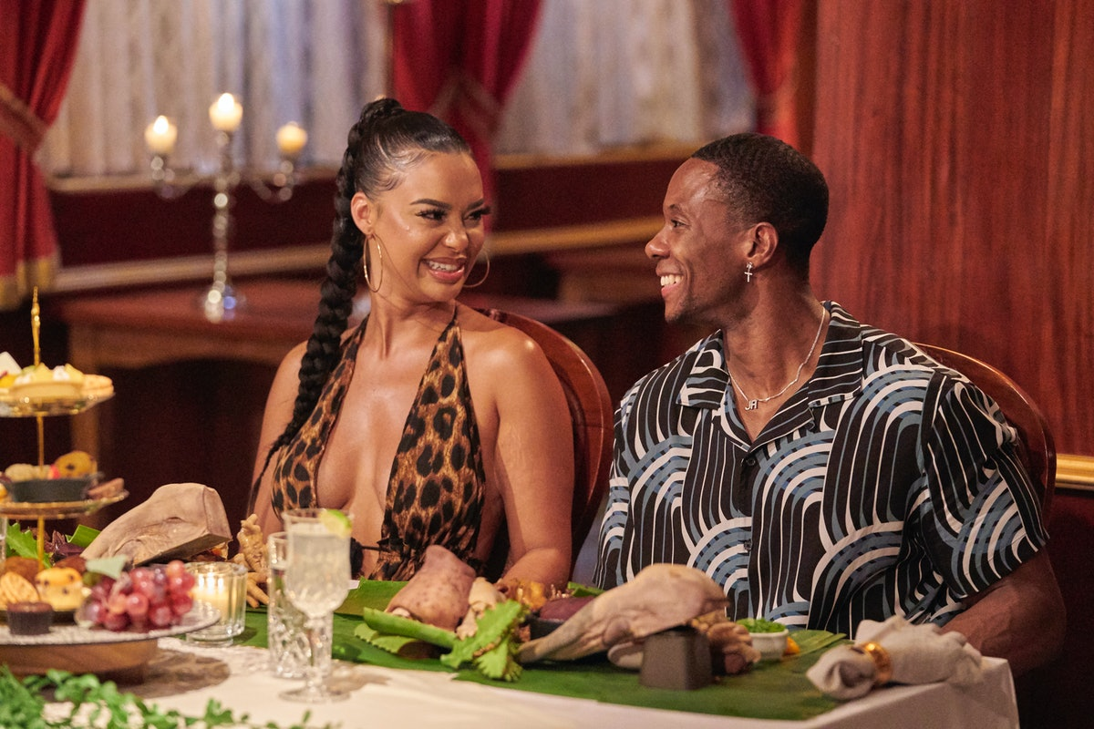 Maurissa Gunn and Riley Christian on steamy date in Bachelor In Paradise.