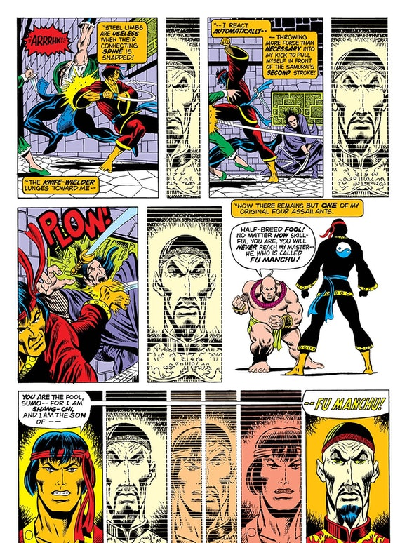 His first issue also introduced the villain Fu Manchu as his father. Creator Steve Englehart says Fu...