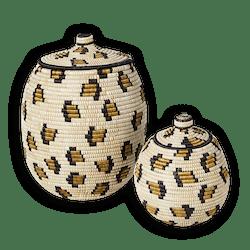 Cheetah Lidded Basket