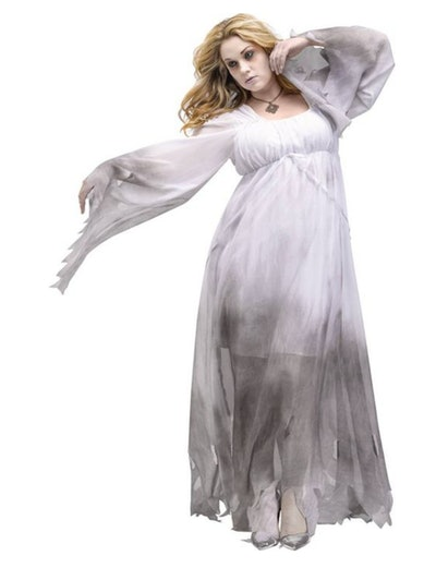 Adult Plus Size Gothic Ghost Halloween Costume