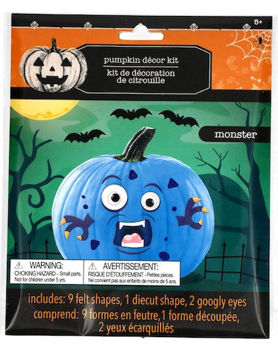 Image of a package of felt stickers for decorating a pumpkin.
