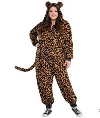 Adult Leopard Zipster Halloween Costume