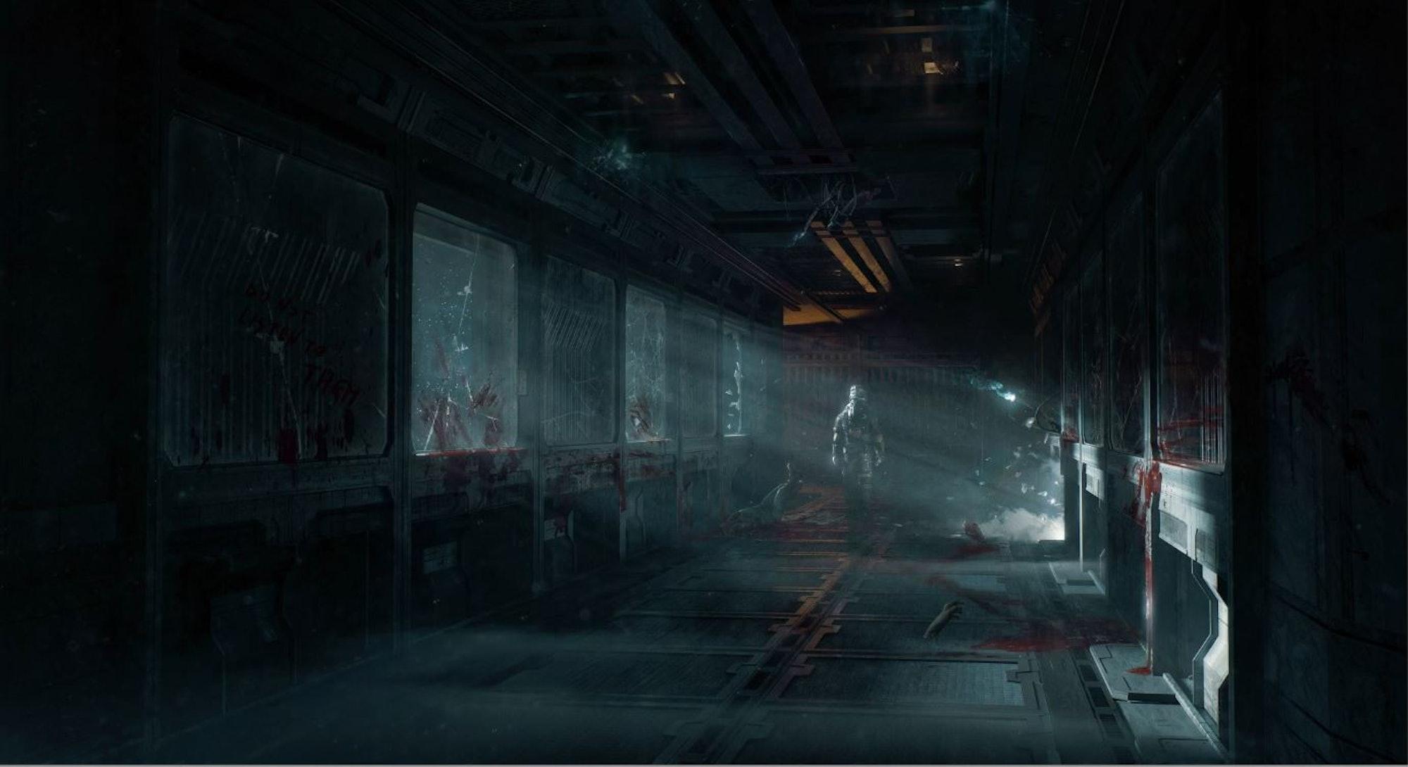 Dead Space hallway