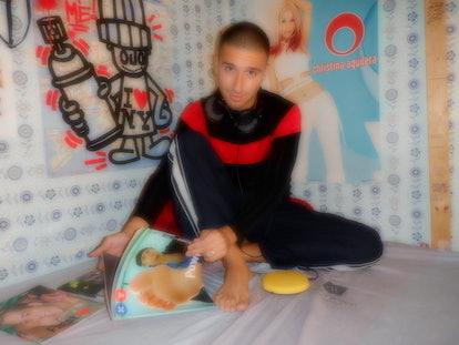 Singer Mat Kastella in his room.