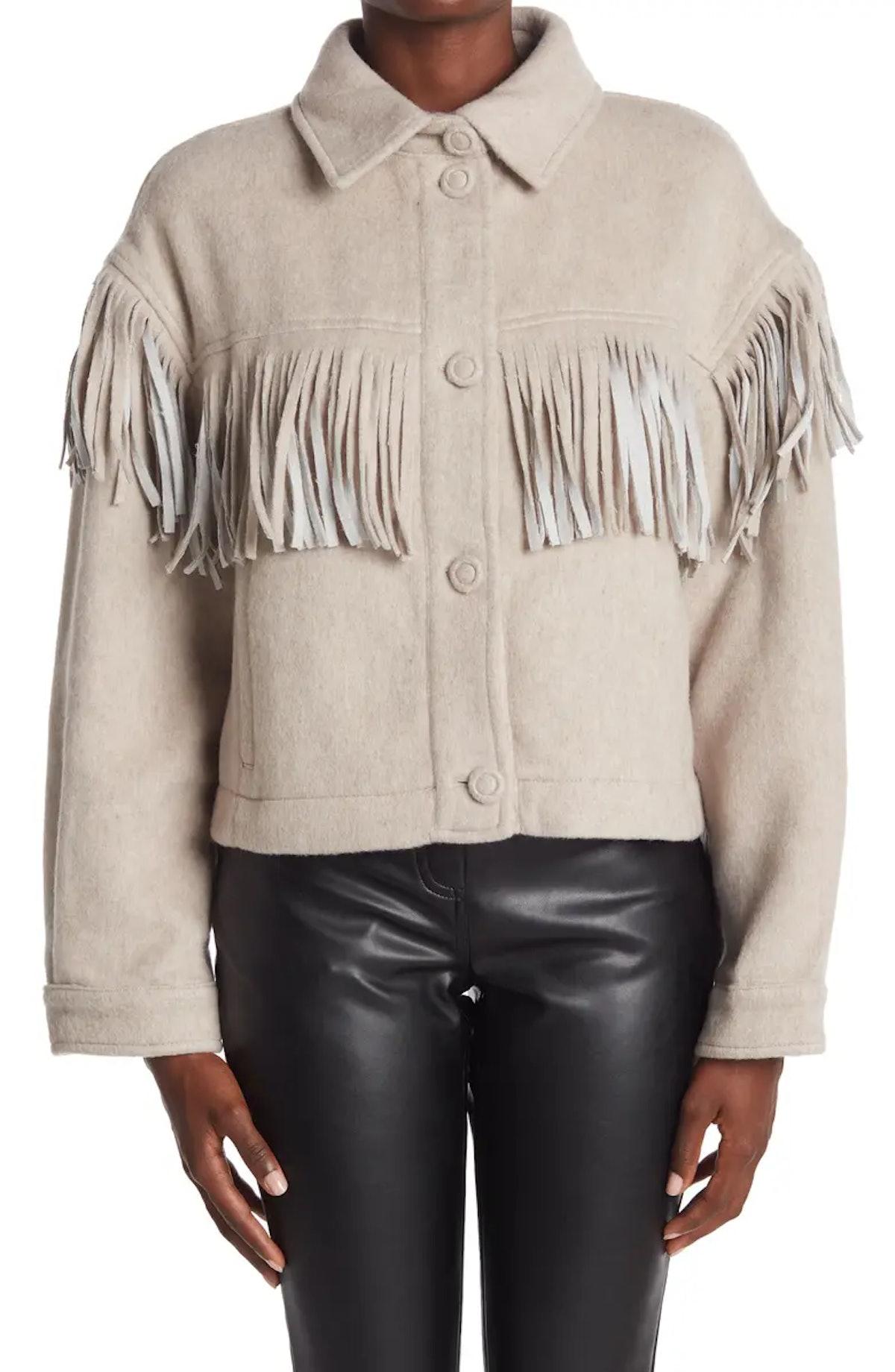 Delphine Fringe Jacket