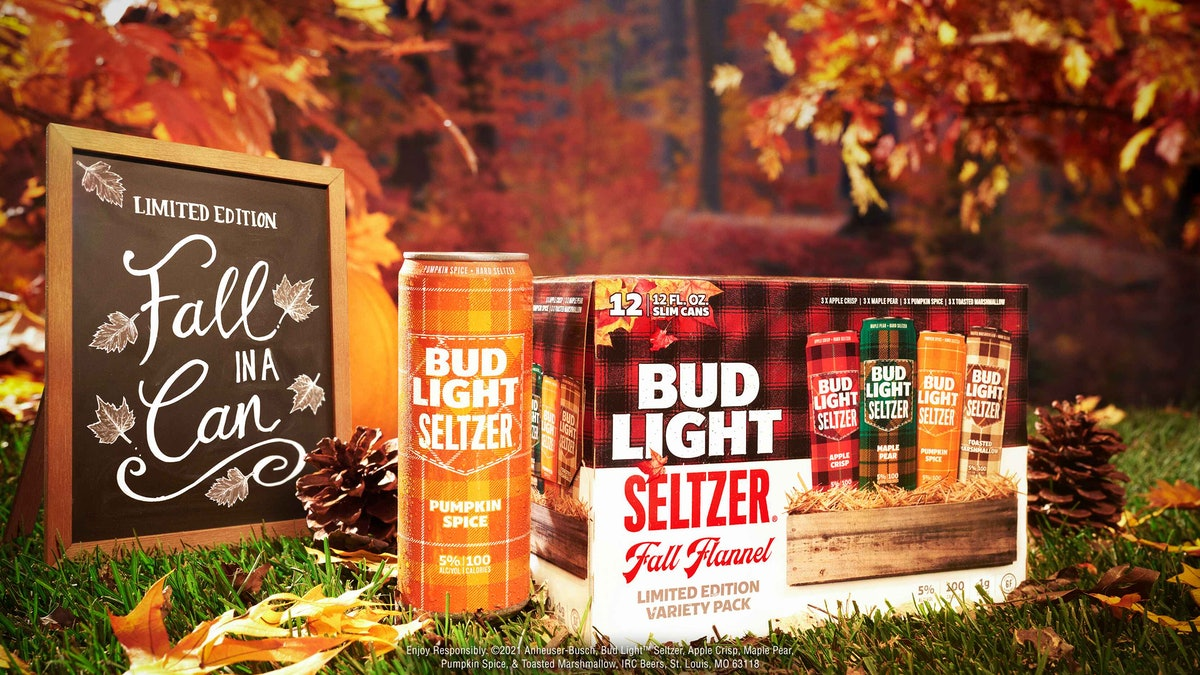 Bud Light Seltzer's new fall flavors Flannel Pack includes Pumpkin Spice.