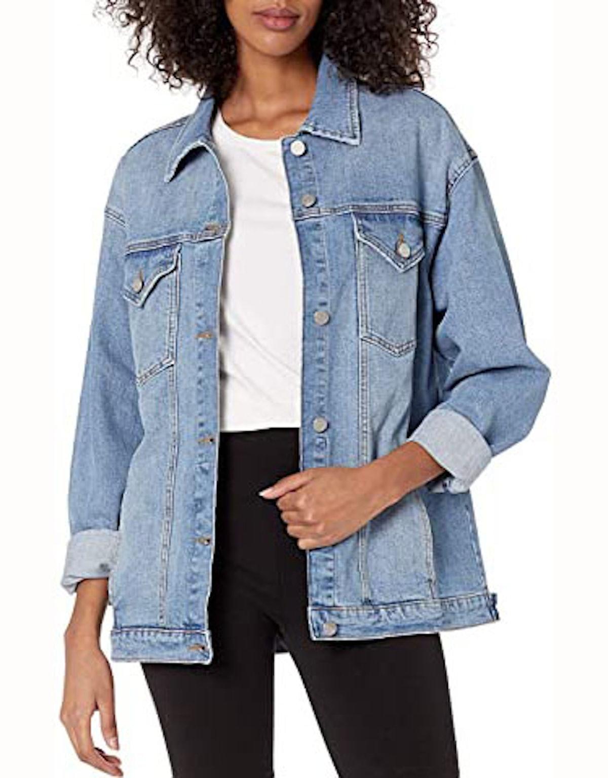 The Drop Andrea Oversized Denim Jacket