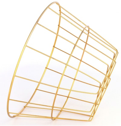 Image of a gold iron basket.