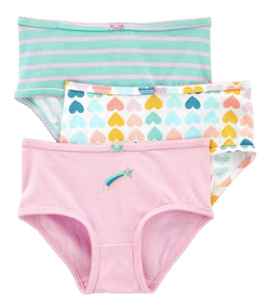 Pink, teal, and hearts girl underwear
