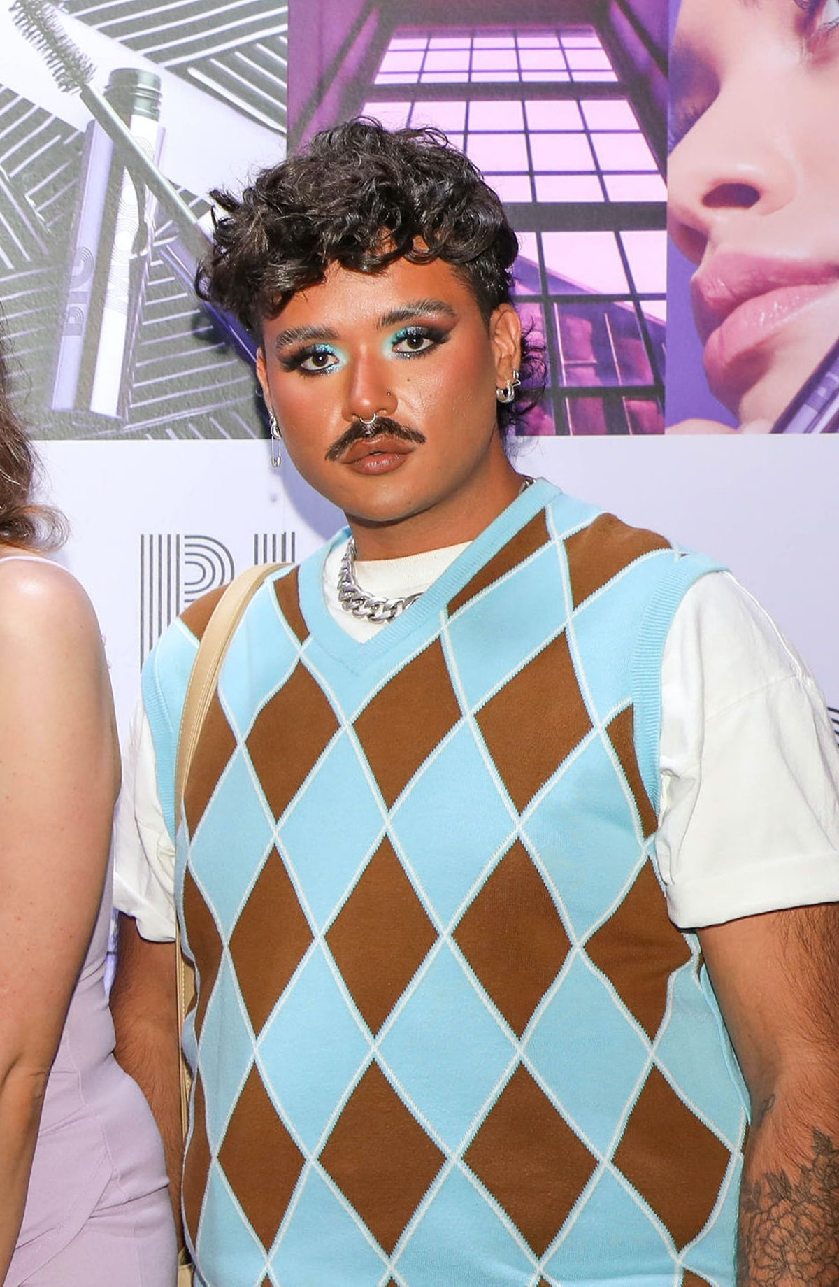 Makeup artist and influencer Michael Brooks attends a launch event for e.l.f.'s Big Mood Mascara