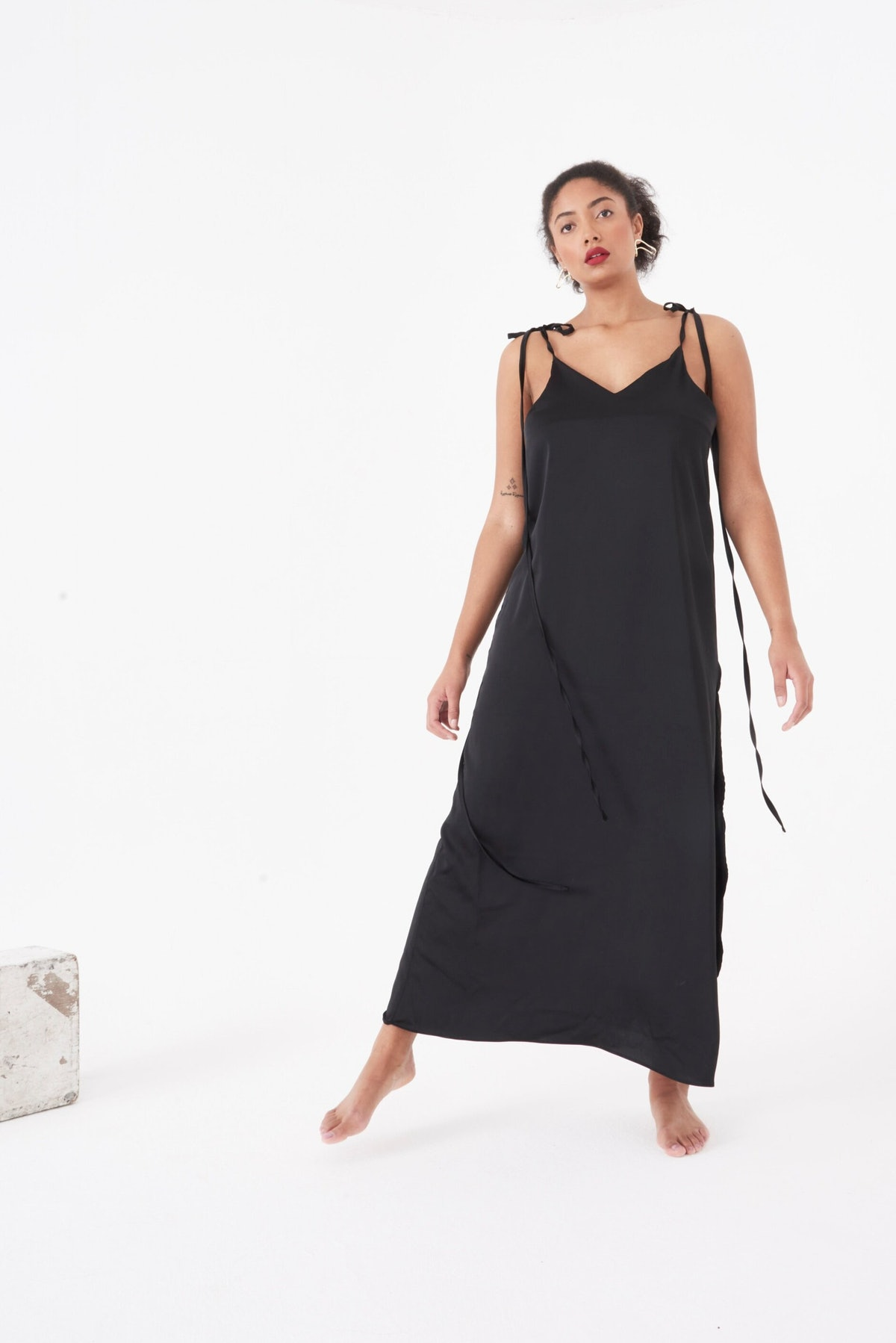 Black cami maxi dress from We Are KIN.