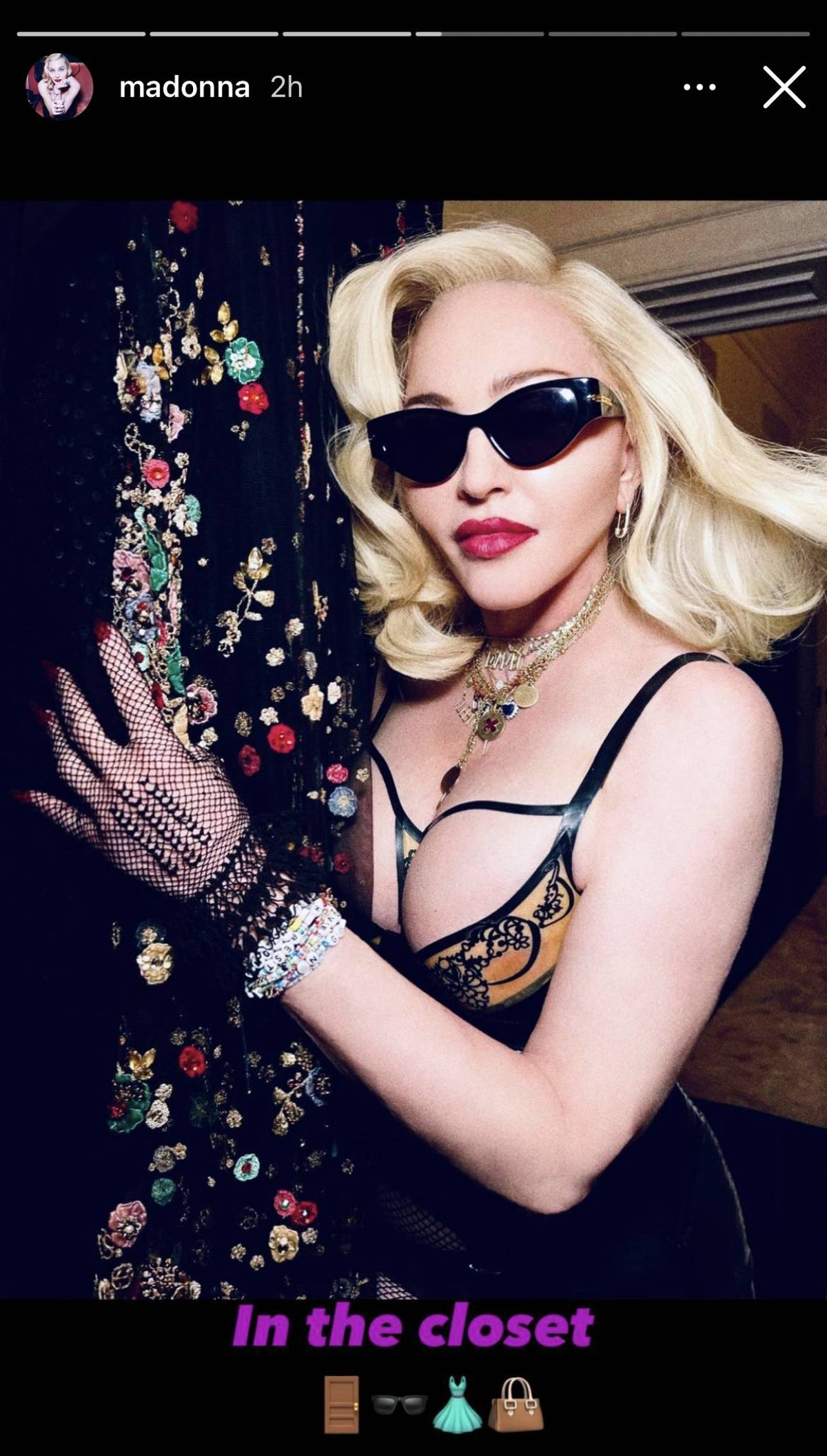 Madonna in a closet.