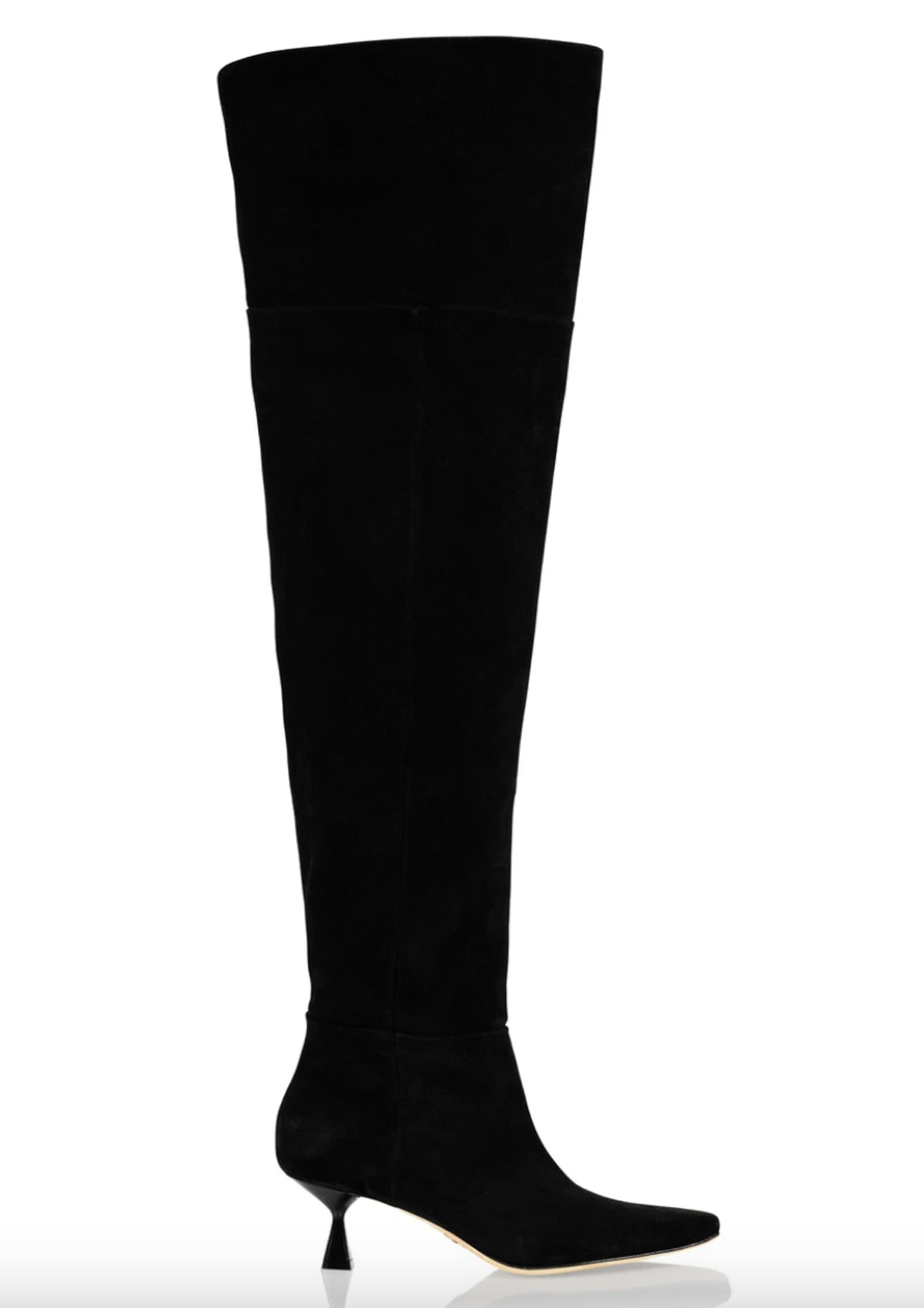 Brother Vellies' over-the-knee black boots.