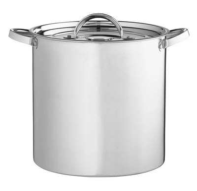 A stainless steel stockpot is one accessory needed for a Kevin Malone Halloween costume.