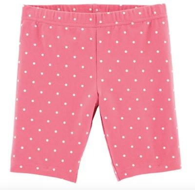 Pink polka dot bike shorts