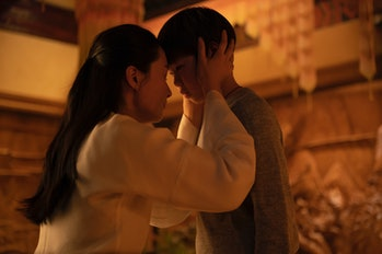 Shang-Chi and his mother, Ying Li, share a heartbreaking farewell