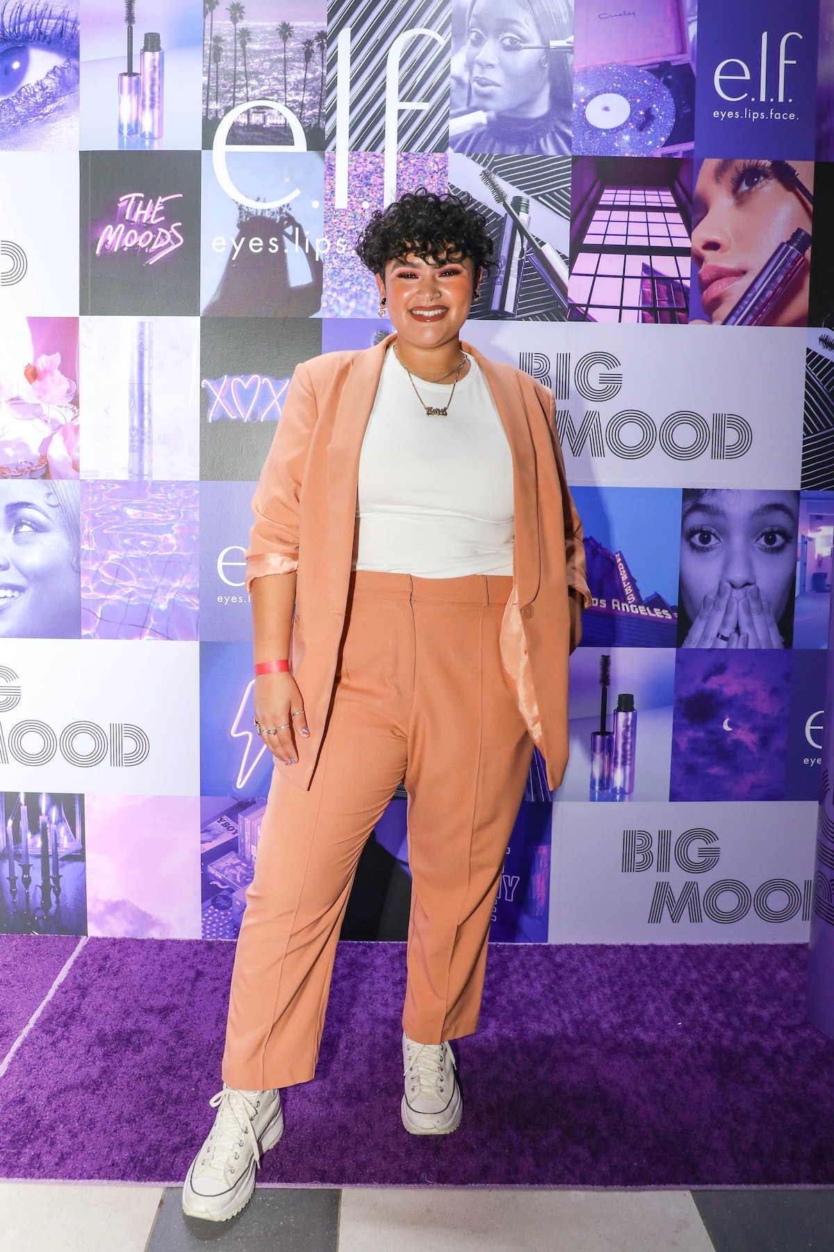 Makeup artist and beauty influencer Karol Rodriguez attends a launch event for e.l.f.'s Big Mood Mas...