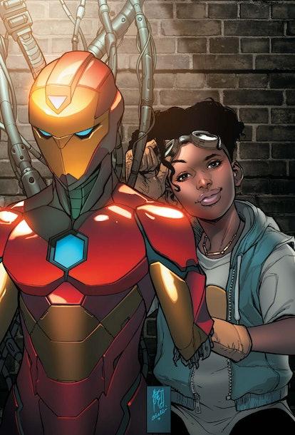 Riri Williams debuted as 'Ironheart' five years ago in the Marvel Comics. Screenshot via Marvel