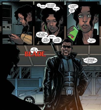 The 'Ironheart' series could set up 'Blade.' Screenshot via Marvel