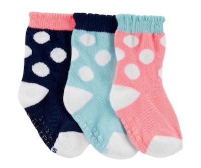 3-pack polka dot socks