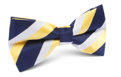 This navy and yellow striped bow tie can complete your Andy Bernard Halloween ostume.