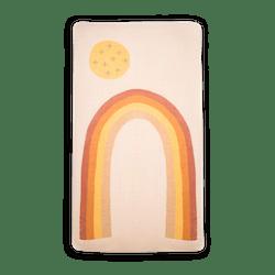 Organic Cotton Crib Sheet in Rainbow
