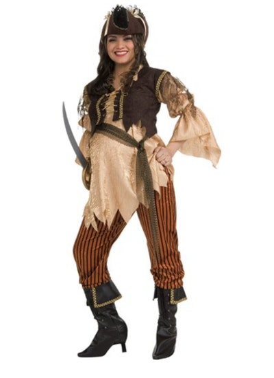 Maternity Pirate Queen Adult Halloween Costume