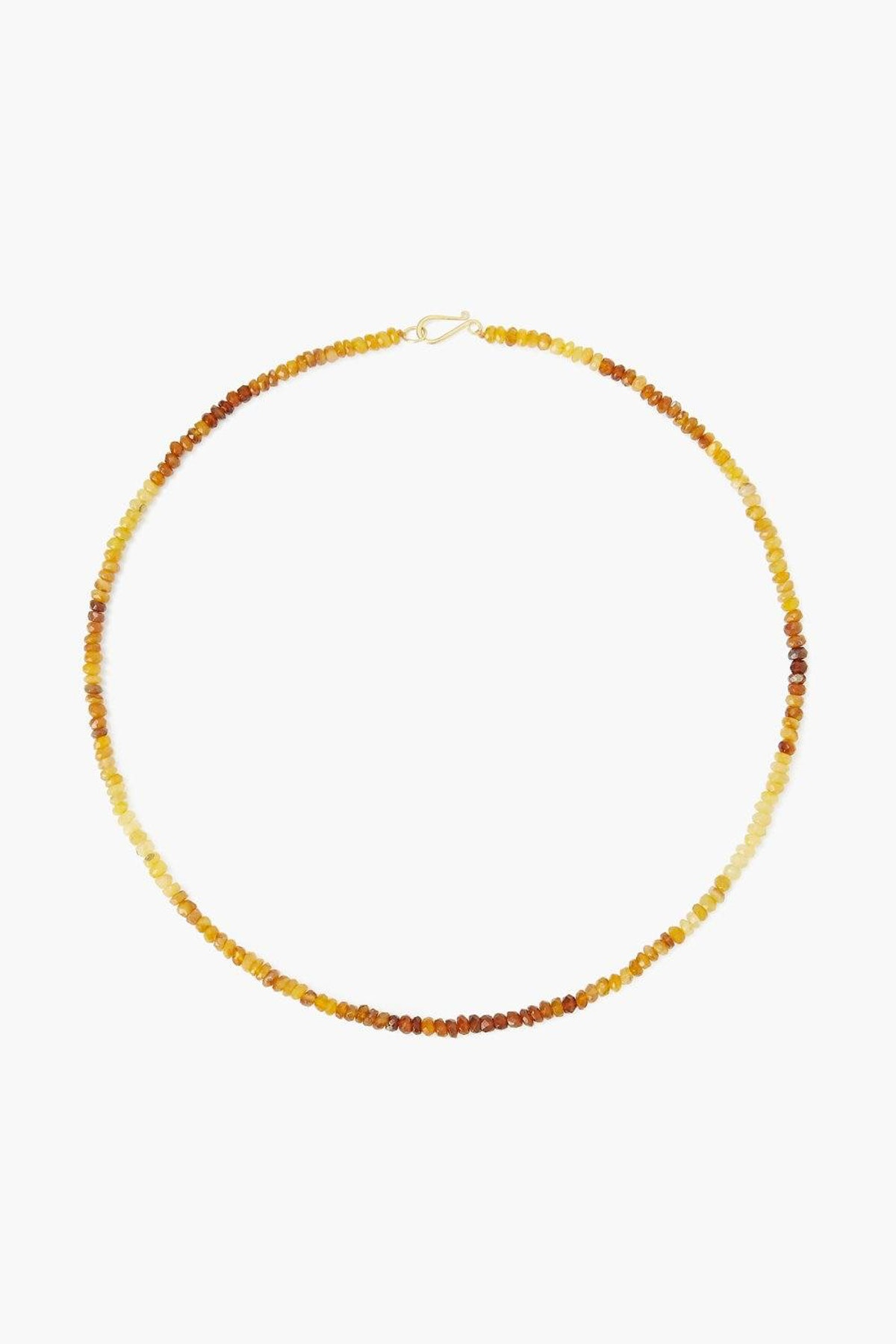 14k African Yellow Opal Necklace