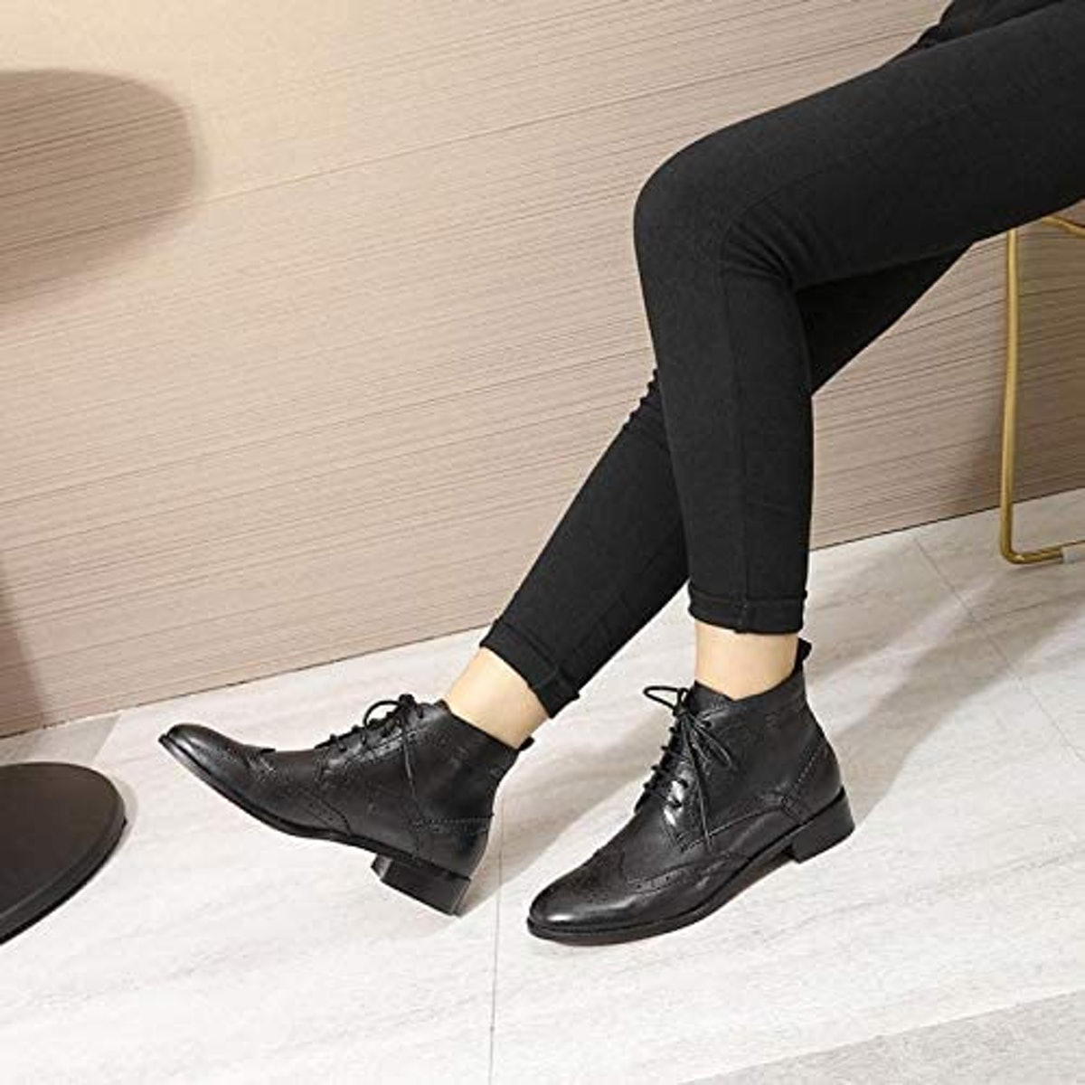 Mona Flying Leather Lace-Up Oxfords