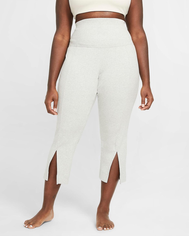 Plus Size Ribbed 7/8 Pants