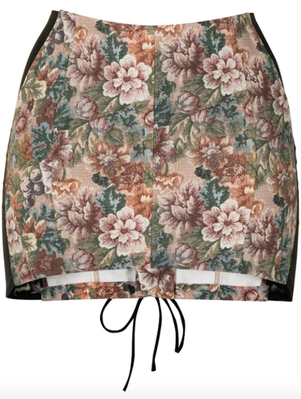 Corset Antique-print miniskirt