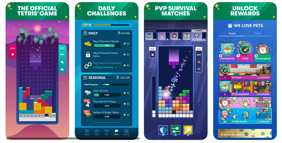 """You can set up a """"Tetris Together"""" match in the iPhone app to play with your friends."""