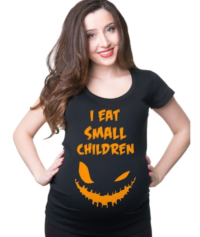 Halloween Maternity Funny I Eat Small Children T shirt