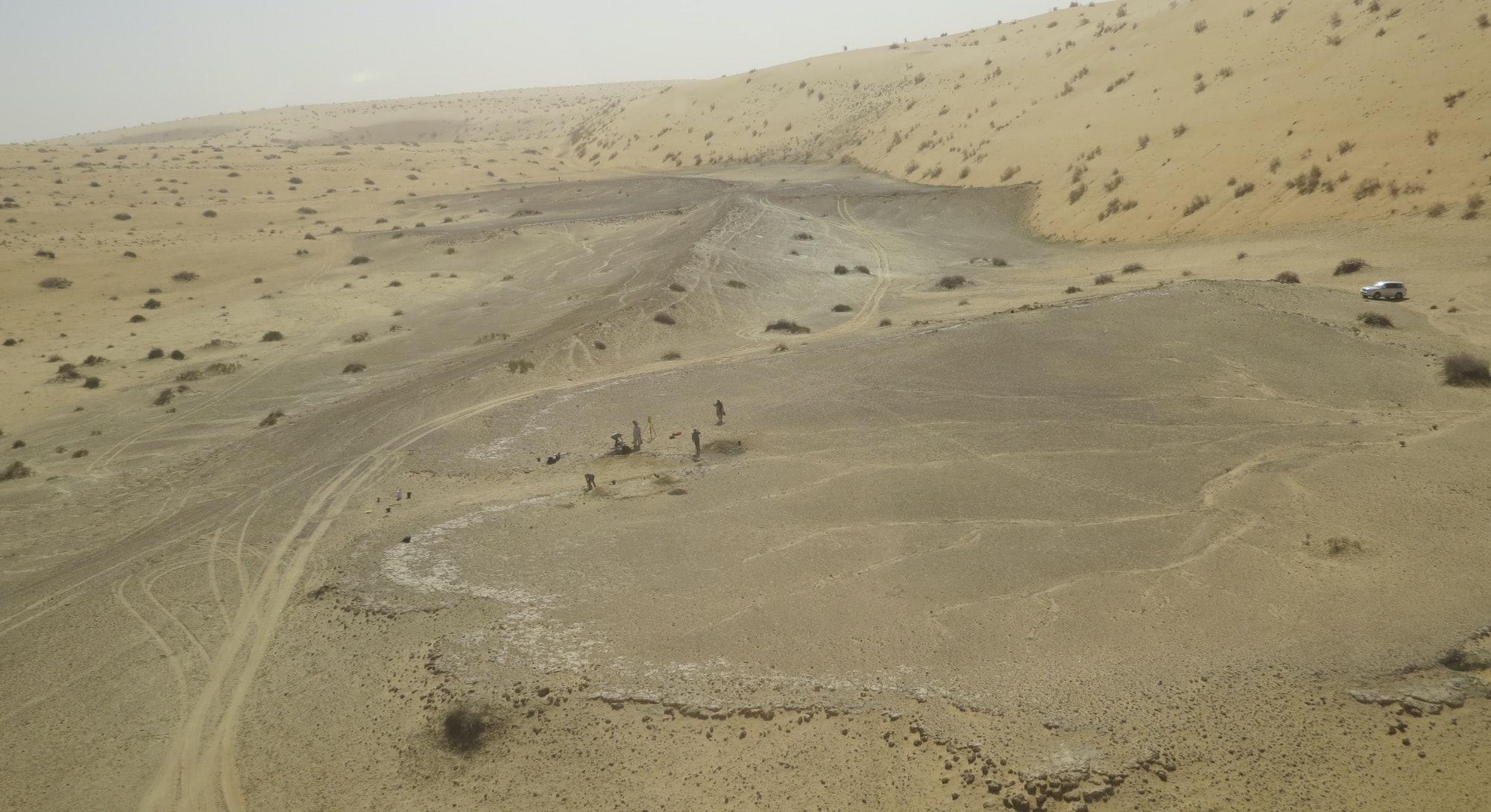The KAM 4 site in the Nefud Desert in Saudi Arabia