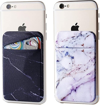 Marble Adhesive Phone Pocket Wallets (2-Pack)