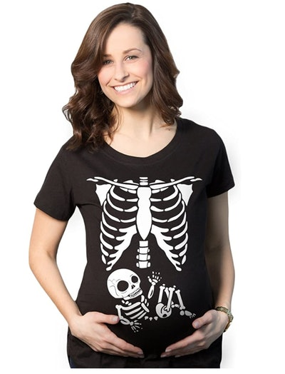 Maternity Skeleton Baby T Shirt