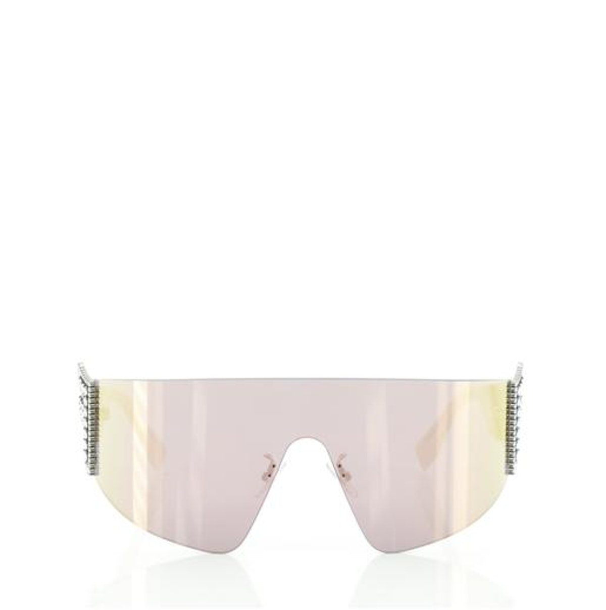 Fendi FFreedom Shield Sunglasses Acetate with Crystal Embellished Metal