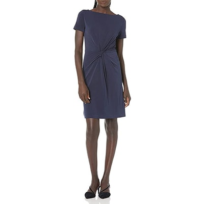 Lark & Ro Short Sleeve Twist Dress