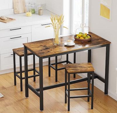 Vasagle 3-Piece Bar Table Set