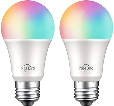 Nitebird Dimmable Multicolor Smart Bulbs (2-Pack)