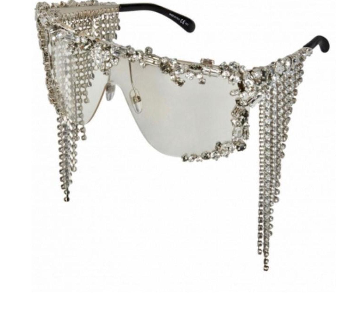 Givenchy Swarovski-Encrusted Shower Sunglasses