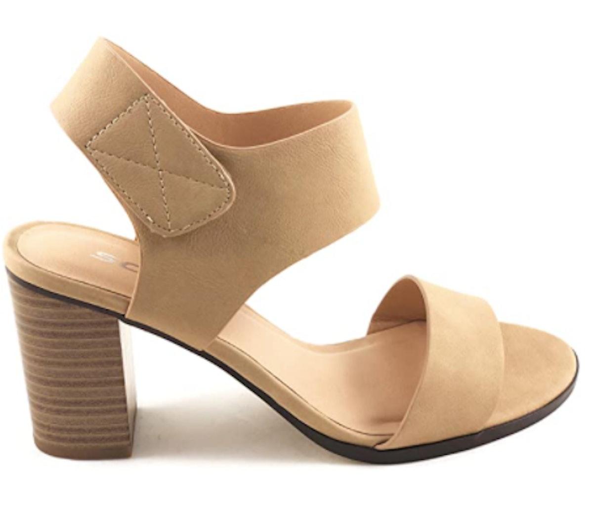 SODA Open Toe Block Heel Dress Sandals