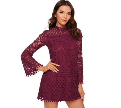 Sheln Crochet Bell Sleeve Dress